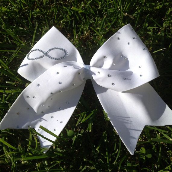 Rhinestone infinity cheer bow by BlingItBows123 on Etsy, $15.00