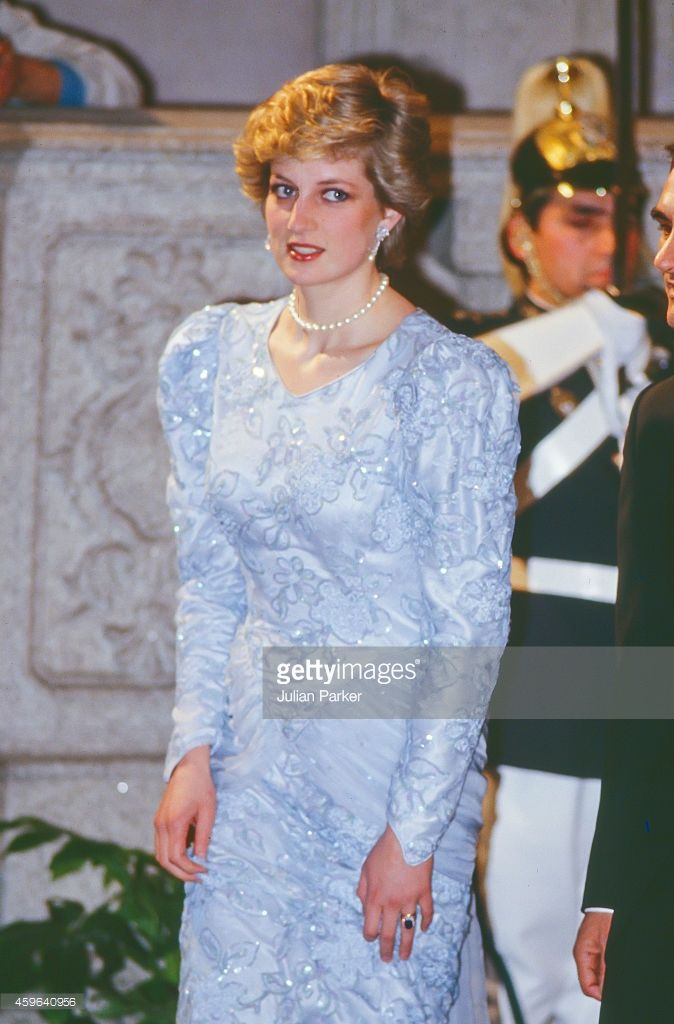 Diana Princess of Wales during an official visit to Lisbon Portugal... News Photo | Getty Images