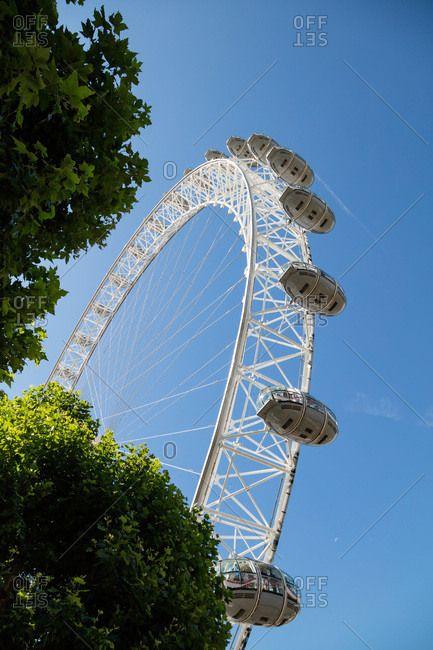 London, England, UK - July 17, 2017: Passenger cabins of The Millennium Wheel
