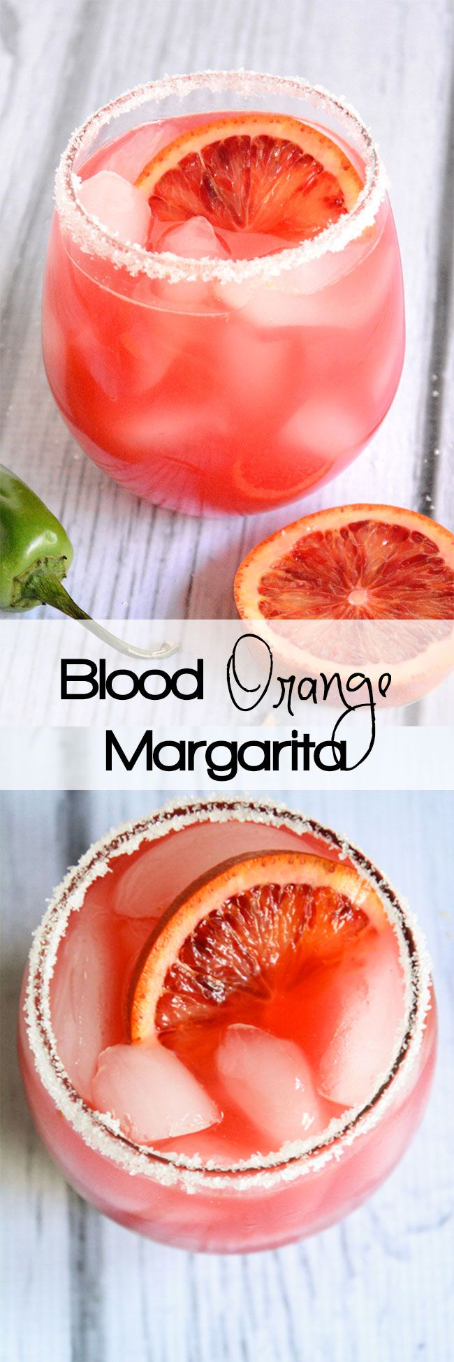 Blood Orange Margarita~ 4 oz Tequila, 2 oz Triple Sec, 6 oz fresh blood orange juice, Juice of two limes. Pinch Sugar