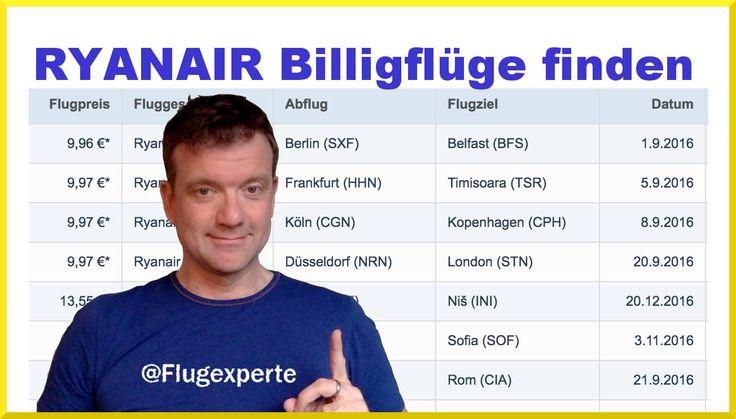 Ryanair Billigflüge einfach finden und buchen (2016) mit dem Flugexperten