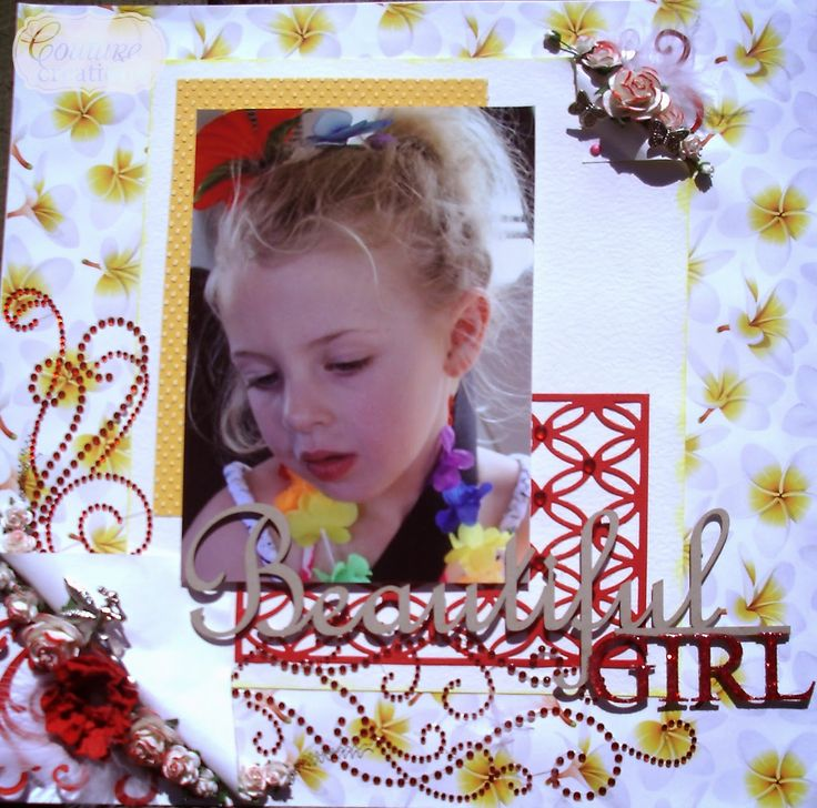 Couture Creations: Beautiful Girl by Lesa Bird | #couturecreationsaus #scrapbooking #decorativedies #embossingfolders