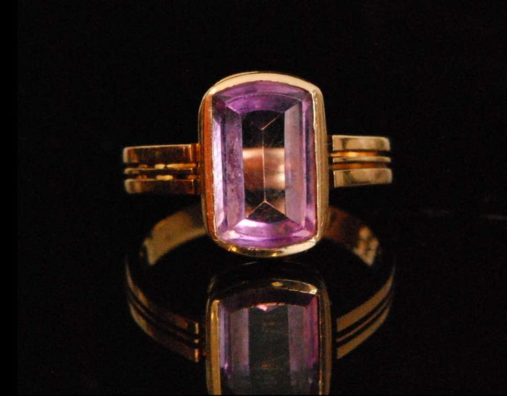 A Early 20th Century Amethyst Ring by mitaineshop on Etsy