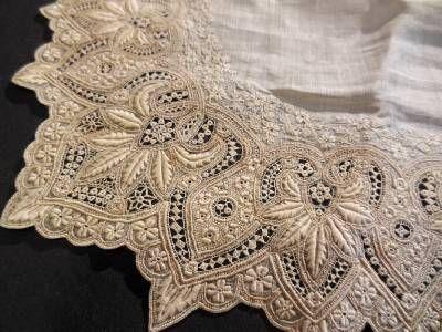 french whitework Embroidery | Amazing antique French whitework