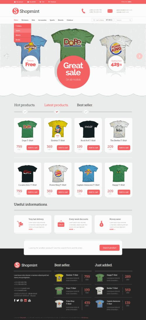 Cool Shopping Ecommerce Theme PSD Files. Download Shopping Ecommerce Theme PSD Files. 8 PSD files that can be downloaded for free. There are some drawbacks also: You can only use this for personal projects. Enjoy!  #cart #clean #clothing #creative #design #detailed #downloadpsd #ecommerce #elements #File #free #freepsd #Freebies #fresh #graphics #interface #layout #modern #new #online #original #pack #page #psd #Quality #resources #shopping #Site #stylish #template #templates #theme #ui…