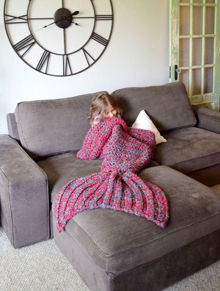 Crocheted Mermaid Tail Blankets By Melanie Campbell
