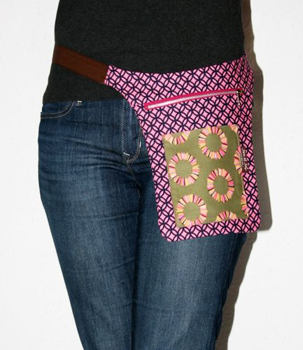 Riñonera para mujeres de patchwork