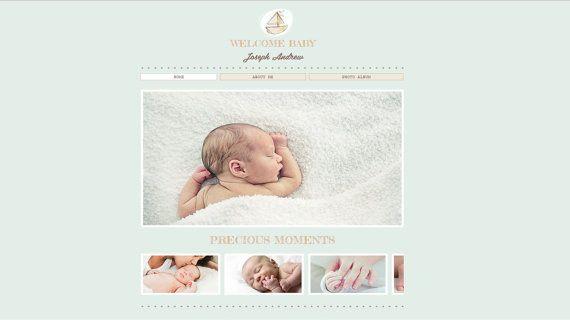 Premade Wix Website Welkom Baby thema  gebouwd door GRCreativeStudio