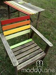 how to rainbow garden furniture - Garden Furniture Colour Ideas
