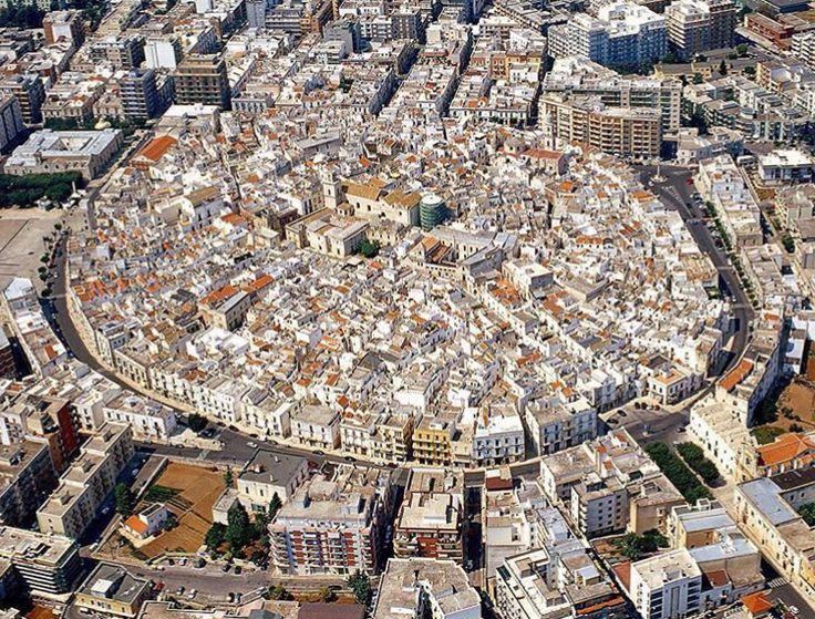 aerial view putignano italy