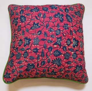 My Island Home - African Cushions - pink/blue leaves
