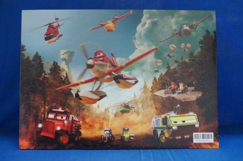 Planes-Fire-Rescue-4-pc-Lithograph-Set-amp-Folder-Disney-Store-Authentic-10-034-x-14-034