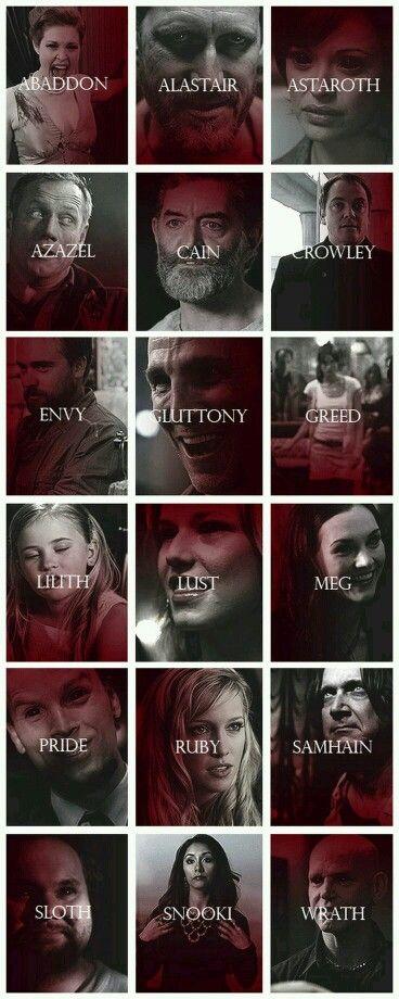 Dämon aus allen Staffeln von Supernatural