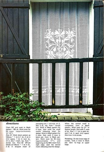 247 Best Filet Lace Cortinas Images On Pinterest