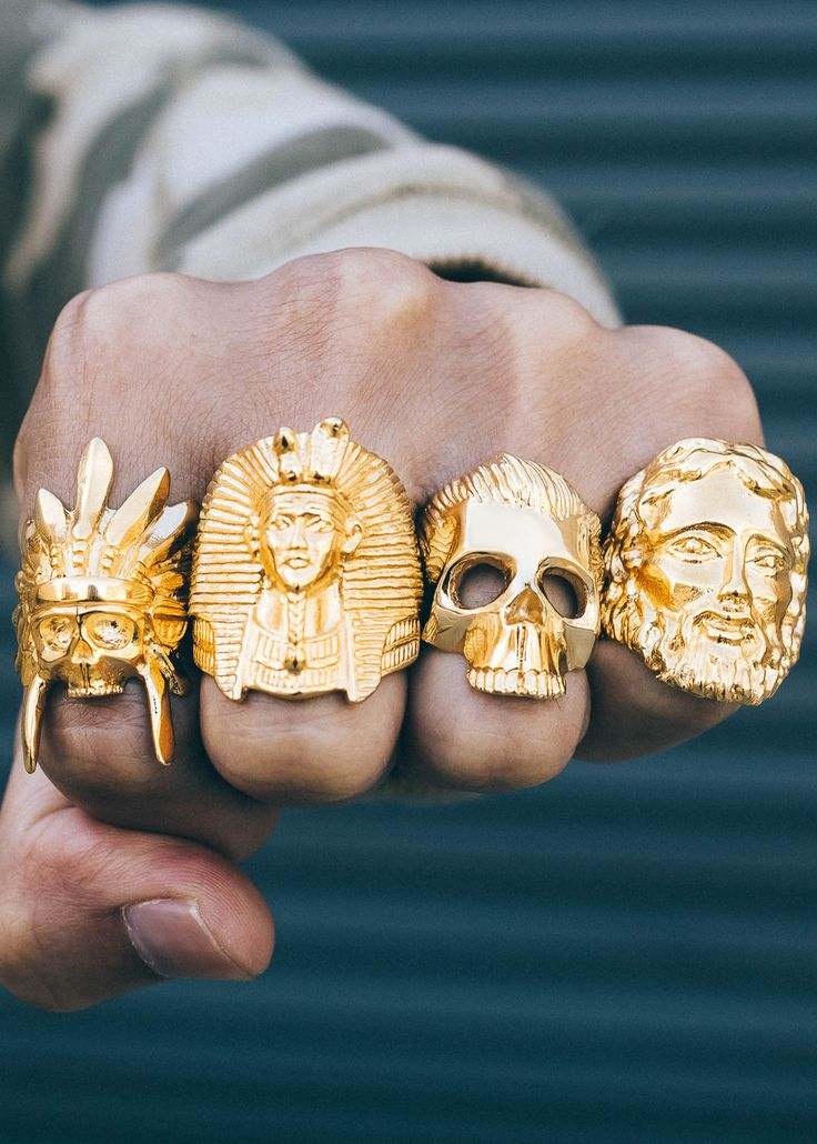 Such unique and edgy rings!