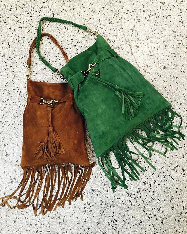 Our fringe bag for The summer SS16 #small #large #abelgreen #brown @rabenssaloner_store #Møntergade19 #copenhagen