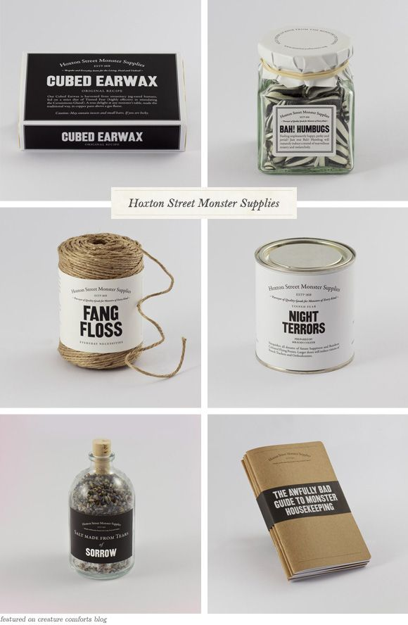 In Good Company: Hoxton Street MonsterSupplies - Home - Creature Comforts - daily inspiration, style, diy projects + freebies: Gift, 10 31 Halloween, Halloween Foods, Halloween Treats, Halloween Yes, Halloween 2015, Halloween Party, Cute Halloween Food