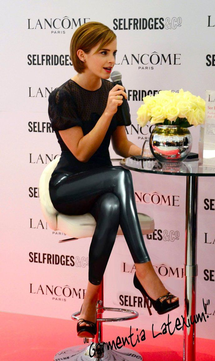 Honey yeeeeeahsss!!!! Emma Watson has gotten to be so fabulous! With these leather leggings/pants!