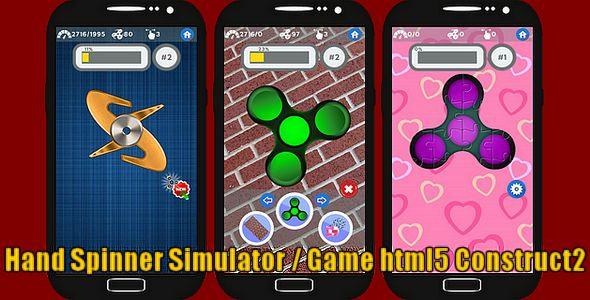 Fidget Hand Spinner Simulator - HTML5 Game + Capx