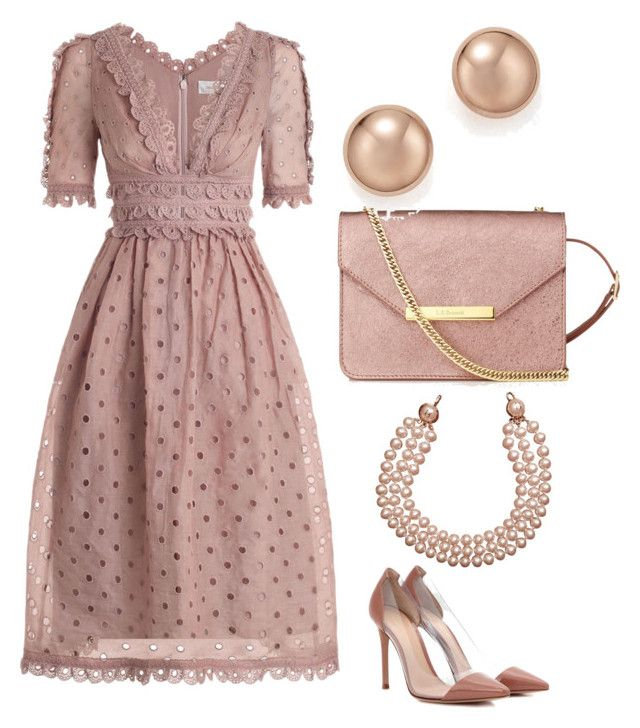 """""""Untitled #826"""" by mchlap on Polyvore featuring Zimmermann, Gianvito Rossi, L.K.Bennett, Bloomingdale's and Chanel"""