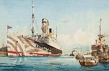 * Harry Hudson Rodmell [1896-1984]- A liner in