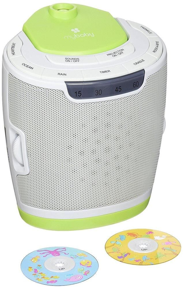 Sound Machine Projector Lullaby Music Nature Image Disks Rotating Timer NEW  #myBaby