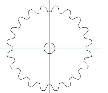 Gear Template for Robot themed party