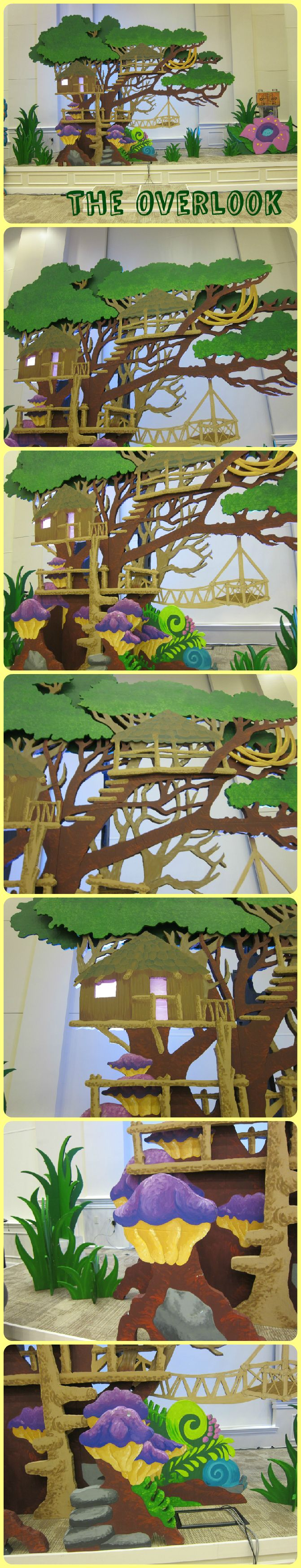 Survival Springs backdrop from several angles includes