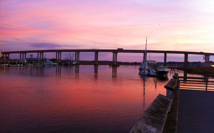 Wilmington river and Thunderbolt bridge: Rivers T-Shirt, Wilmington Rivers Savannah
