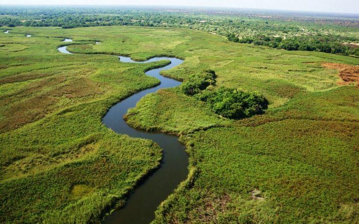 The Okavango River in Sepupa, Botswana. #botswana #okavangoriver #africansafari #travel #africa