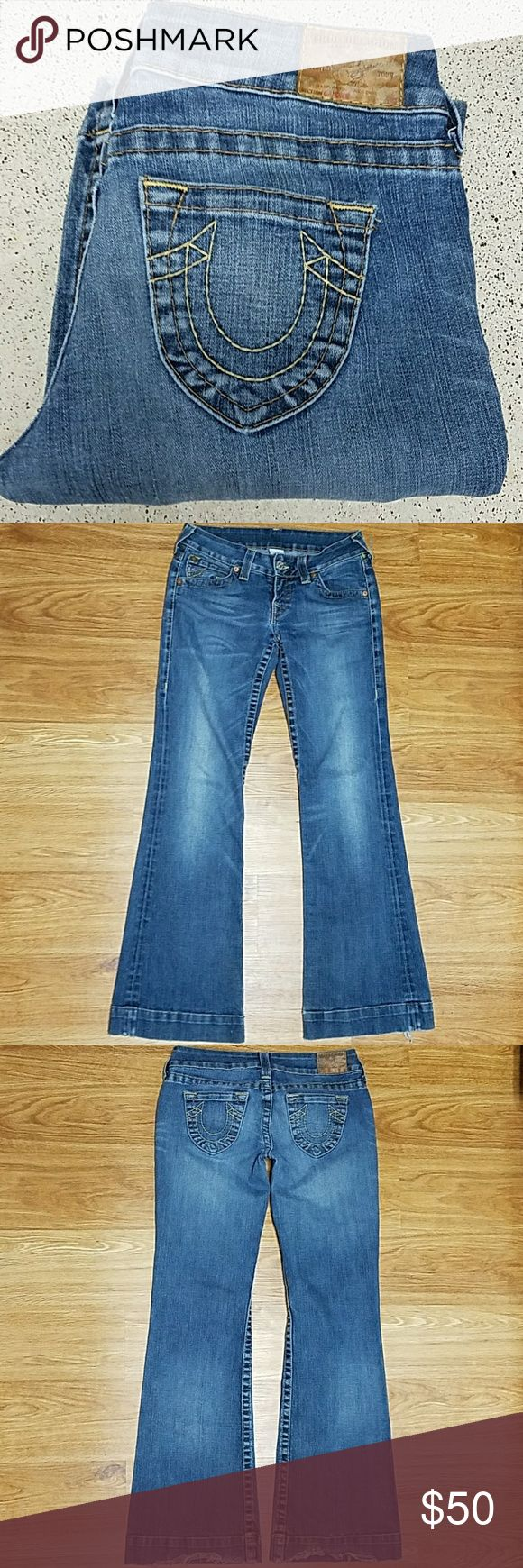 True Religion True Religion Jeans  (Rescude/Thrifted/preloved) 1-item Gender-ladys/girls Size-28 Inseam-32inch Back rise-12inch +1/2inch Style-CANDICE SEAT-34 (sizes may very depending on style and Brands) 88% Cotton  10% polyester  2% spandex  Rn#112790 Ca#30427 STAYTRUE! Soft but thick beutifull fabric!As is.No returns.Yes! Real BUDA'S!(some random usage spots,distressing on cuffs)(some great random distressing)nonsmoke,nonpet, stored in dark dry storage excellent quality.Buy with…