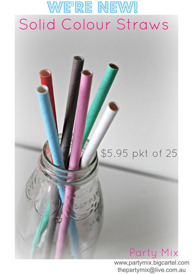 Solid colour straws