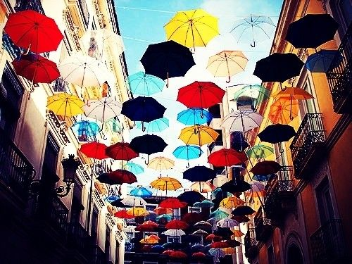 this just looks so cool: Alicante Spain, Mary Poppins, Favorite Places, Colors, Beautiful, Umbrellas Art, Umbrella Art, Kate Spade, Rainy Days