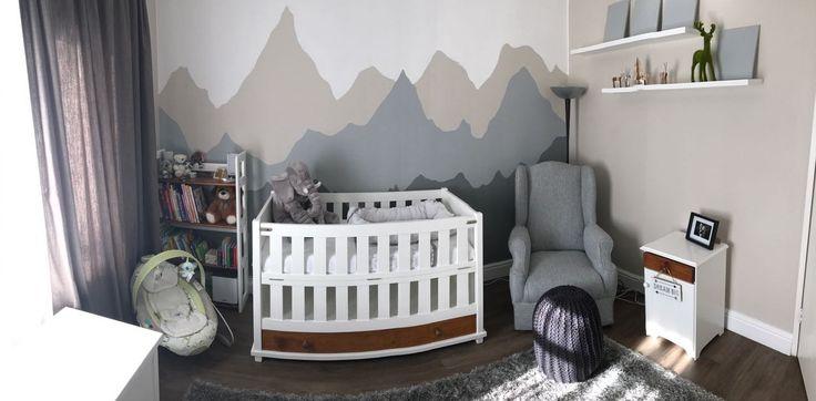 Woodland theme boys nursery  #woodlands #babyboynursery