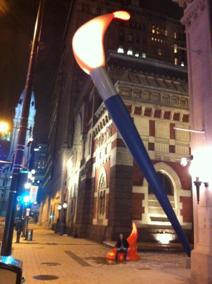 Claes Oldenburg paintbrush in Philly