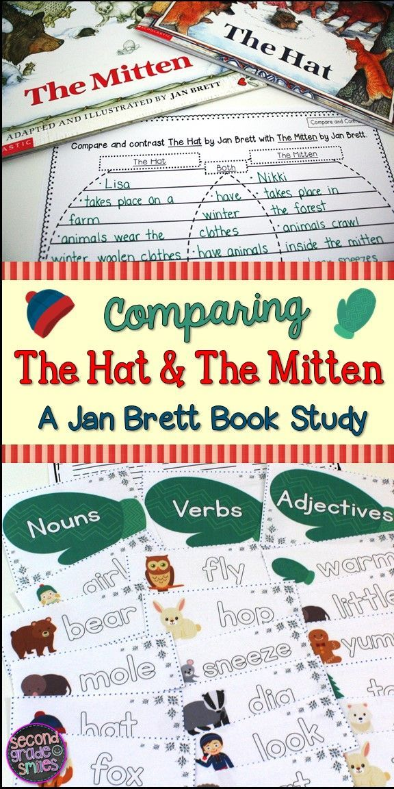 Reading The Hat or The Mitten by Jan Brett? This set is a perfect ...