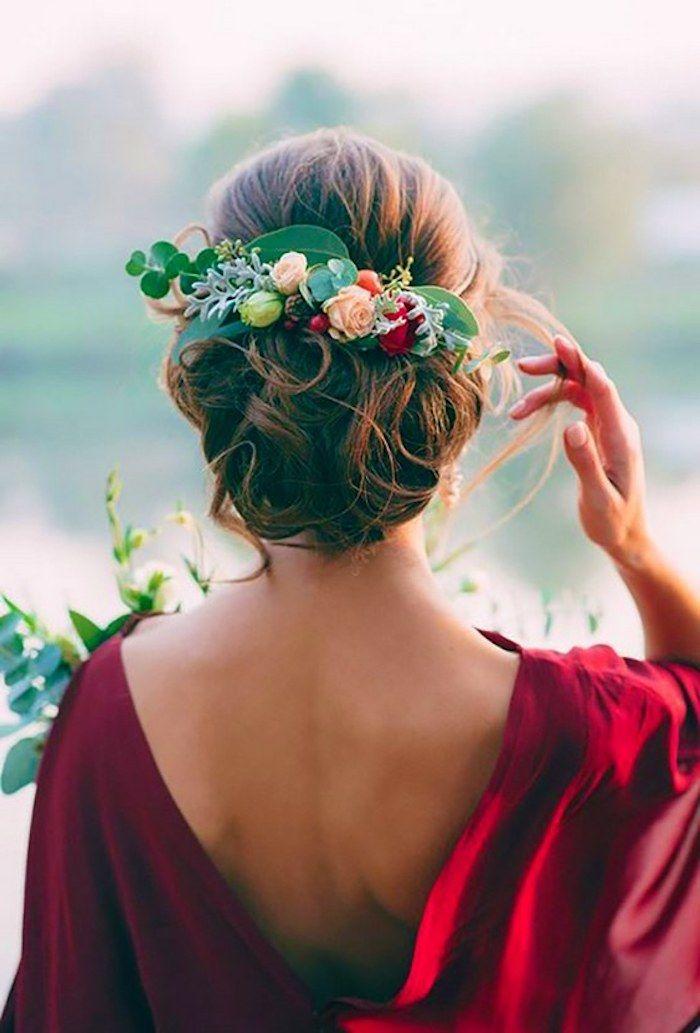 Coiffure femme mi long pour mariage