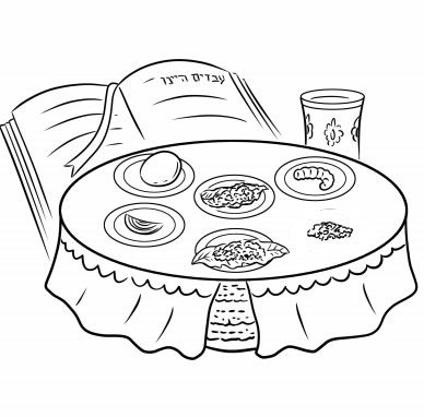 free pesach coloring pages | 12-Page New Passover Coloring Book - Printables - Jewish ...