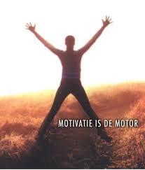 Zelf motivatie als de motor.