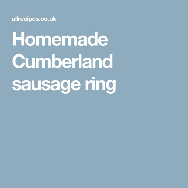 Homemade Cumberland sausage ring