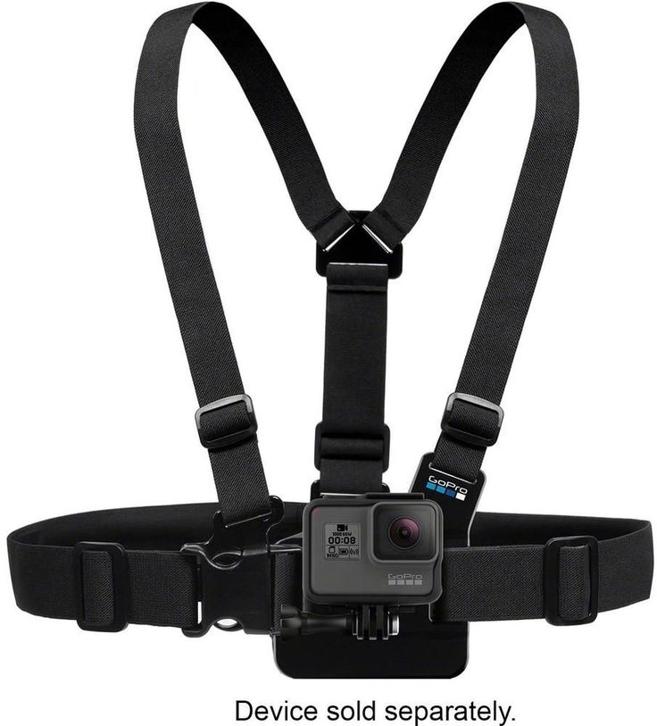 GoPro - Chest Mount Harness - Black, GCHM30