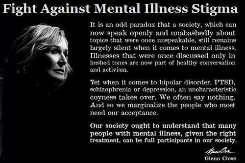 fight against mental illness stigma depression anxiety