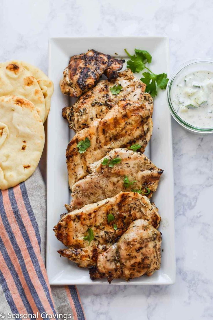 Grilled Chicken Souvlaki is always a favorite grilled chicken at my house. The marinade makes the most tender, moist and flavorful chicken.