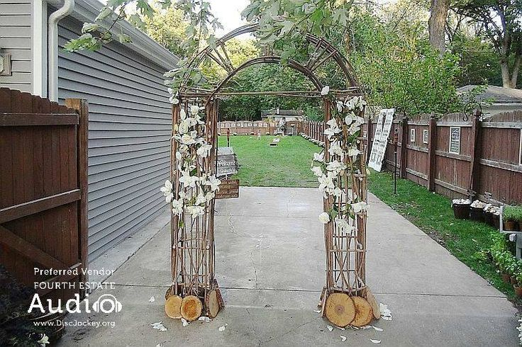 Behind this arch was an incredible DIY wedding celebration. Enjoy the pictures. http://www.discjockey.org/real-chicago-wedding-sept-26-2015
