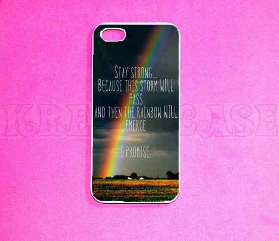 IPhone Case 5 Rainbow Quote By KrezyCases