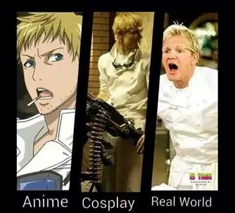 Anime vs Cosplay vs Real Life. http://saikoplus.com (I can agree with the real life one for sure! ^.^)