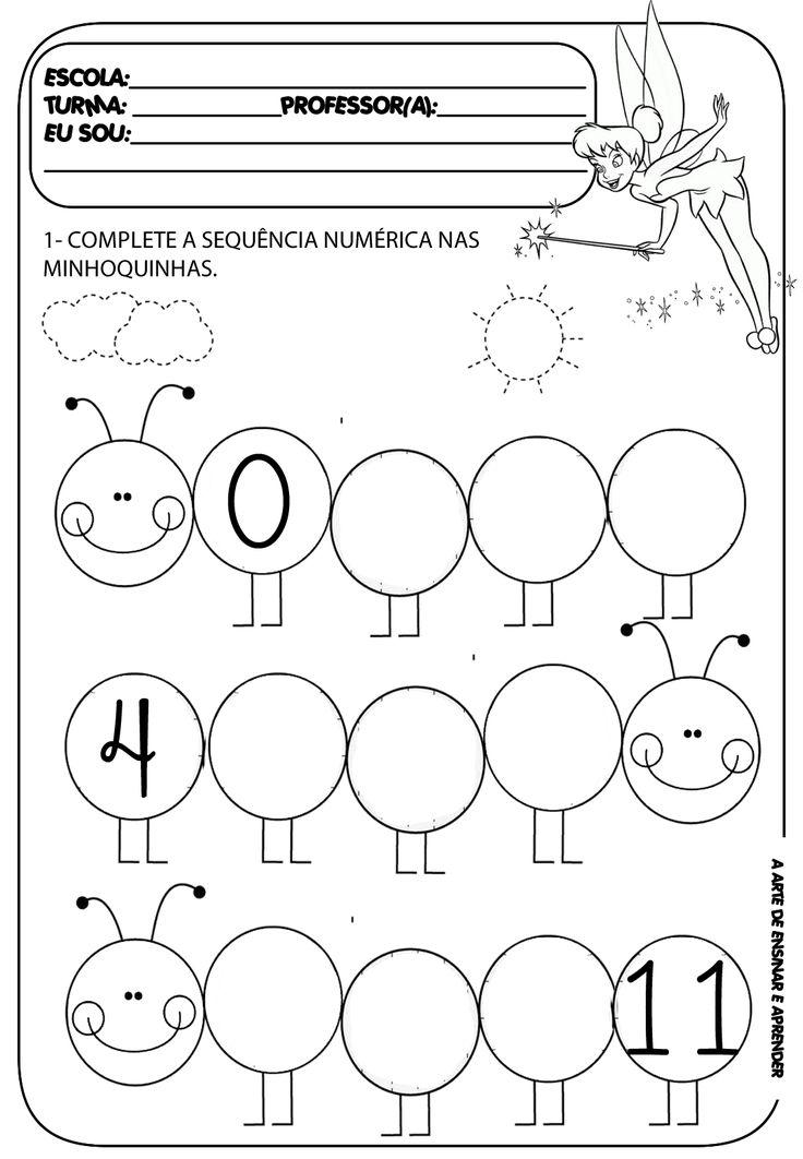 A Arte de Ensinar e Aprender: Atividade pronta - Sequência numérica