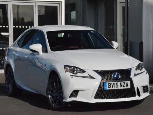 Used 2015 (15 reg) F Sport White Pearlescent Lexus IS 300h F-Sport 4dr CVT Auto [Bus Nav/Leather] for sale on RAC Cars
