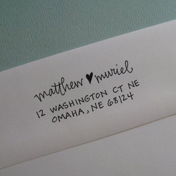 Self-ink address stamp, lettergirl shop on etsy. Neat.