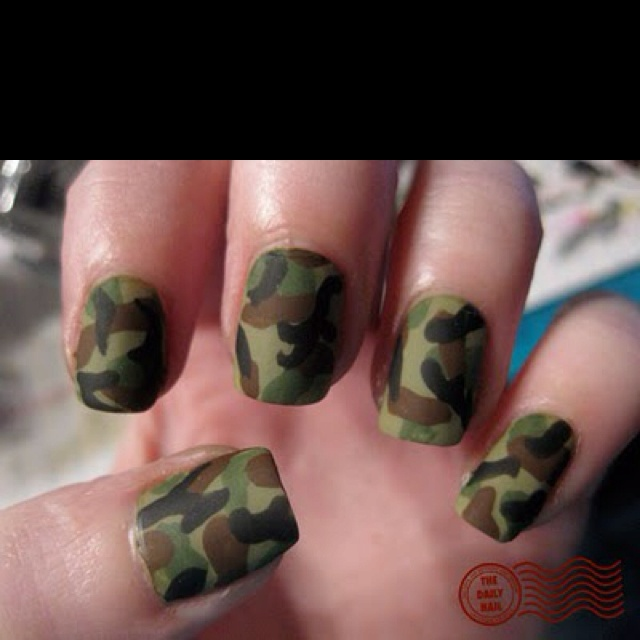 Army Nail Art Best 25+ Army nails id...